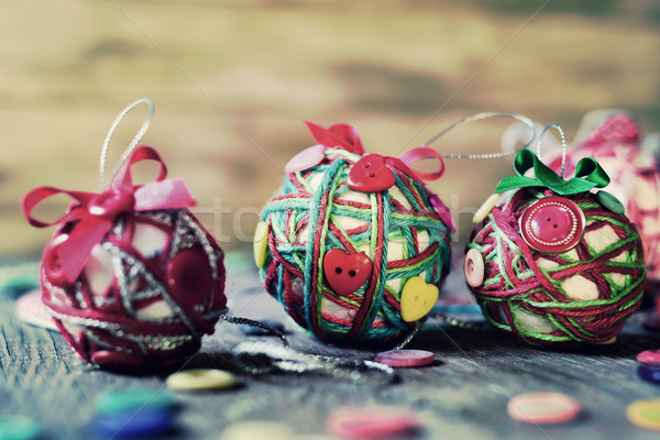 handmade christmas balls, filtered Stock photo © nito