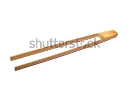 Bamboe tang paar nieuwe witte huis Stockfoto © nito