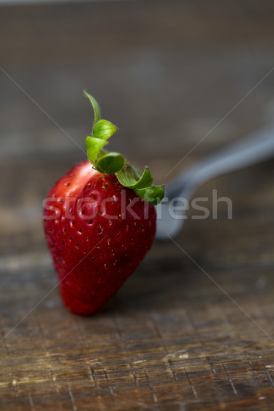 strawberry on a wooden table Stock photo © nito