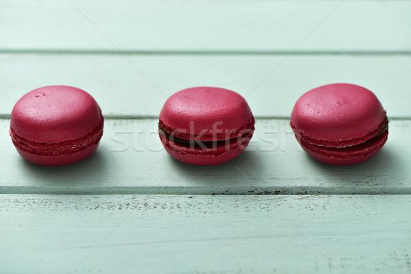 赤 マカロン 青 素朴な 表面 食欲をそそる ストックフォト © nito