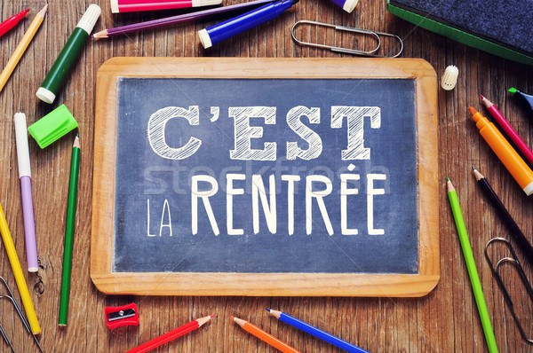 text cest la rentree, back to school in french Stock photo © nito