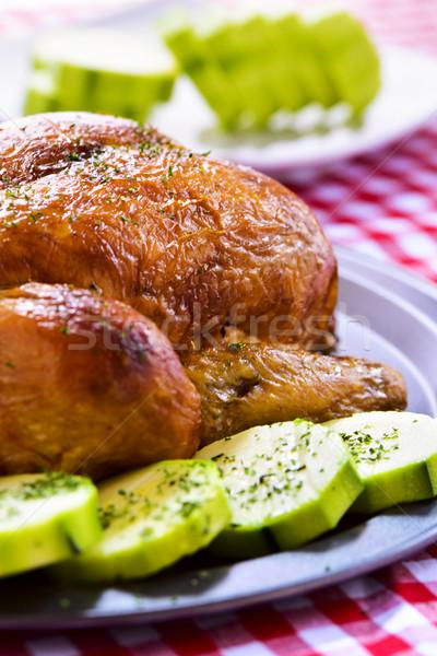 roast turkey with vegetables Stock photo © nito