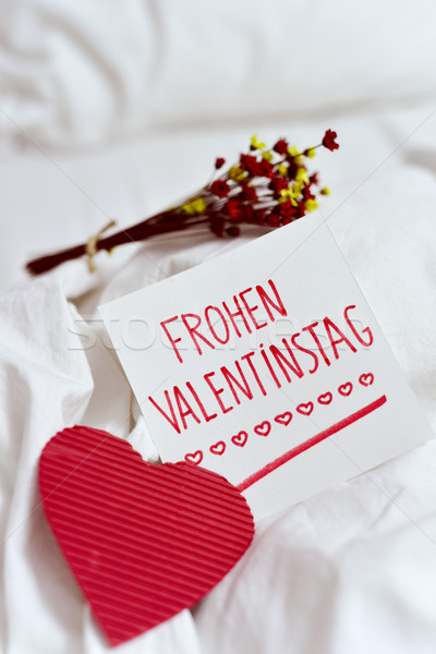 frohen valentinstag, happy valentines day in german Stock photo © nito