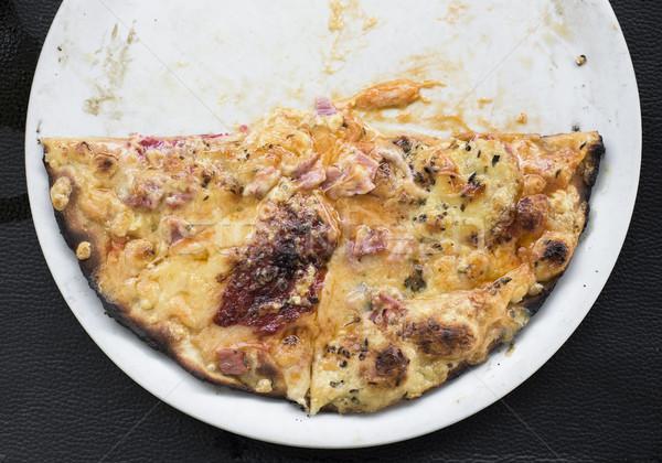half pizza in a plate Stock photo © nito