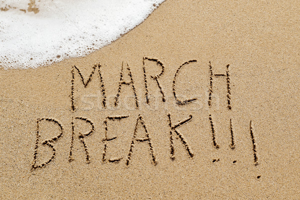 text march break in the sand of a beach Stock photo © nito