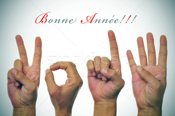 bonne annee 2014, happy new year 2014 written in french Stock photo © nito