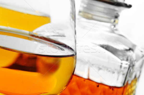 Szeszes ital közelkép konyak szemüveg klasszikus üveg Stock fotó © nito