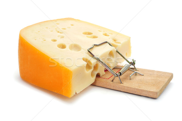 mousetrap with a too large piece of cheese Stock photo © nito