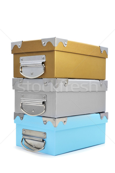 cardboard storage boxes with different colors Stock photo © nito
