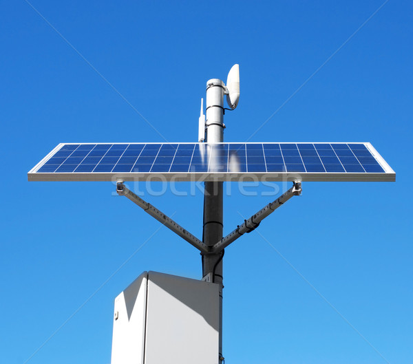 solar panel in the top of a pole Stock photo © nito