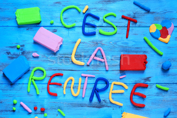 cest la rentree, back to school written in french Stock photo © nito