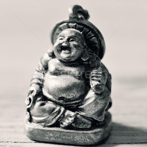Risonho buda gordura feliz preto Foto stock © nito