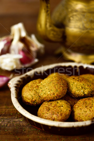 earthenware plate with falafel Stock photo © nito