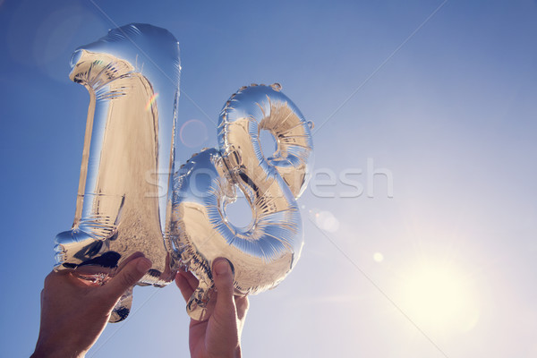 number-shaped balloons forming the number 18 Stock photo © nito