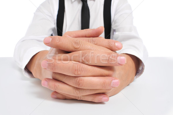 businessman with clasped hands Stock photo © nito
