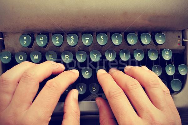 typing on an old typewriter Stock photo © nito