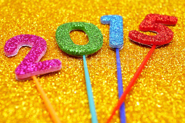 glittering numbers forming the number 2015, as the new year Stock photo © nito