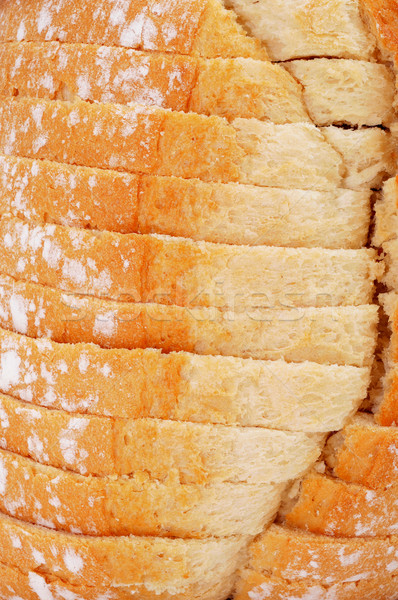 sliced pan de payes, a round bread typical of Catalonia, Spain Stock photo © nito