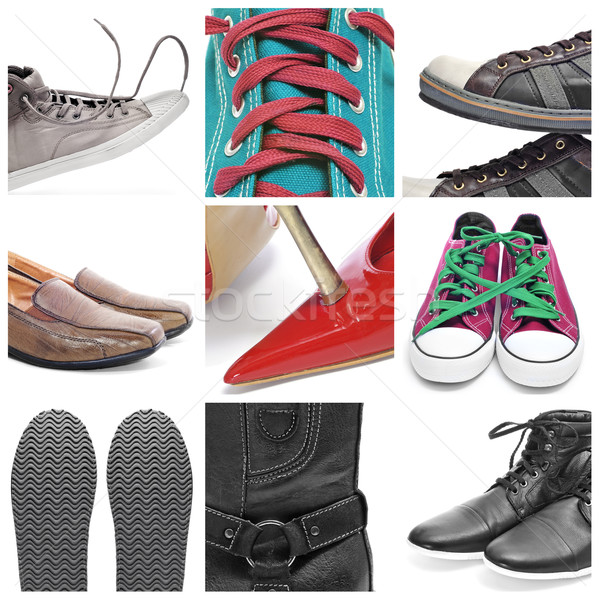 shoes collage Stock photo © nito