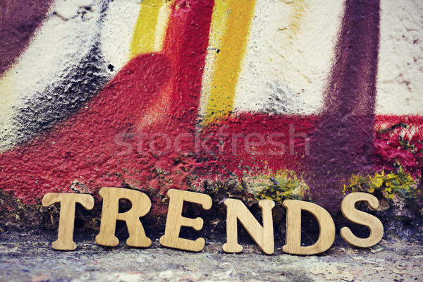 wooden letters forming the word trends Stock photo © nito