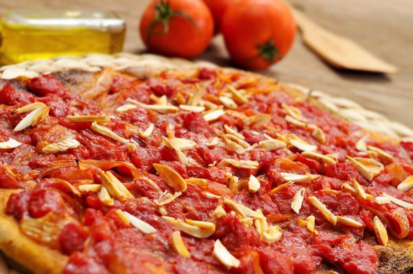 coc de tomata, a flat pie with tomato and tuna typical of Valenc Stock photo © nito