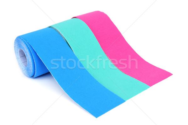 Rugalmas tekercsek szalag különböző színek rózsaszín Stock fotó © nito