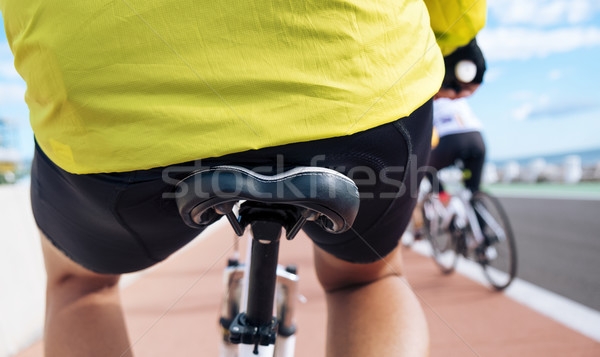 young sportsman riding his bicycle Stock photo © nito