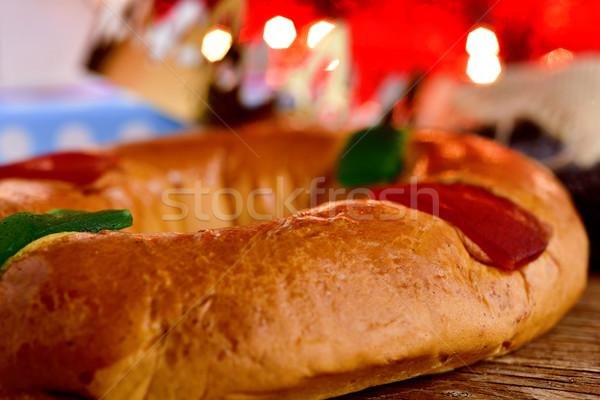 Espanhol três reis bolo tradicional dia Foto stock © nito