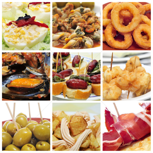 spanish tapas collage Stock photo © nito