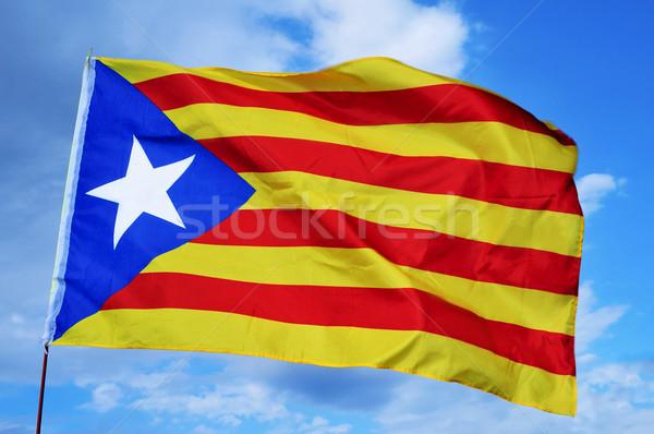 estelada, the Catalan separatist flag Stock photo © nito