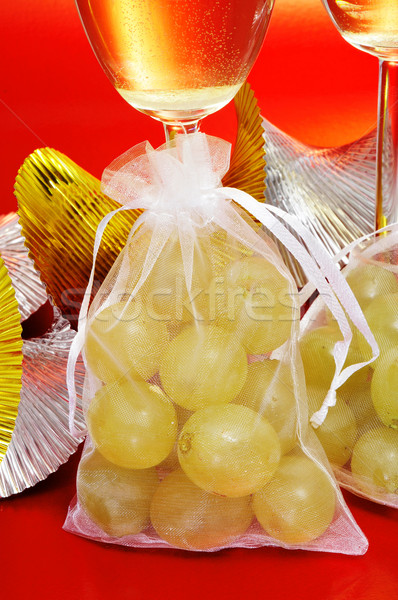 испанский шампанского двенадцать виноград очки Сток-фото © nito