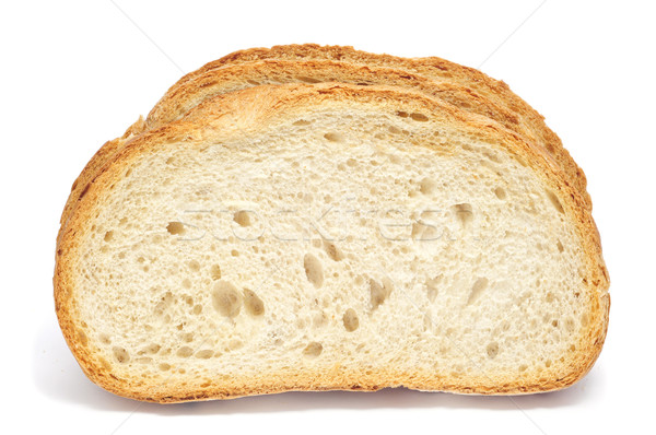 slices of pan de payes, a round bread typical of Catalonia, Spai Stock photo © nito