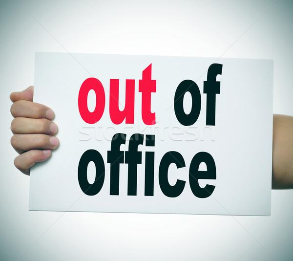 Fora escritório homem mão braço Foto stock © nito