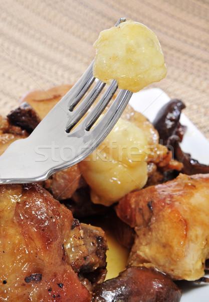 Pieczony kurczak naczyń sztuk kurczaka nogi Zdjęcia stock © nito