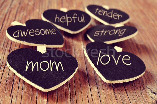 concepts referring to a good mom, such as love, helpful or tende Stock photo © nito