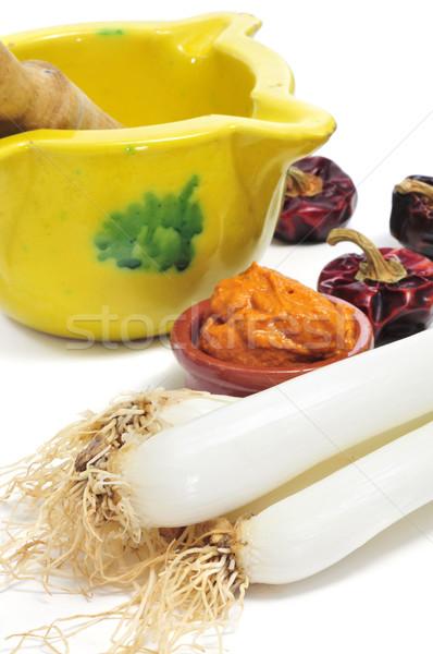 calcots, catalan sweet onions, and romesco sauce Stock photo © nito