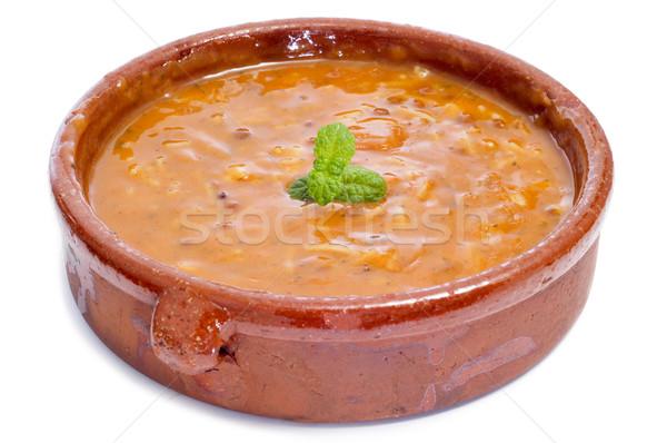 Kom traditioneel soep Marokko witte Stockfoto © nito
