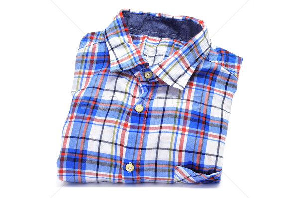 plaid patterned shirt Stock photo © nito