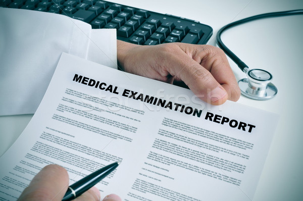 medical examination report Stock photo © nito