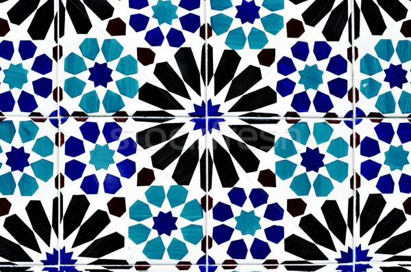 portuguese ceramic tiles background Stock photo © nito