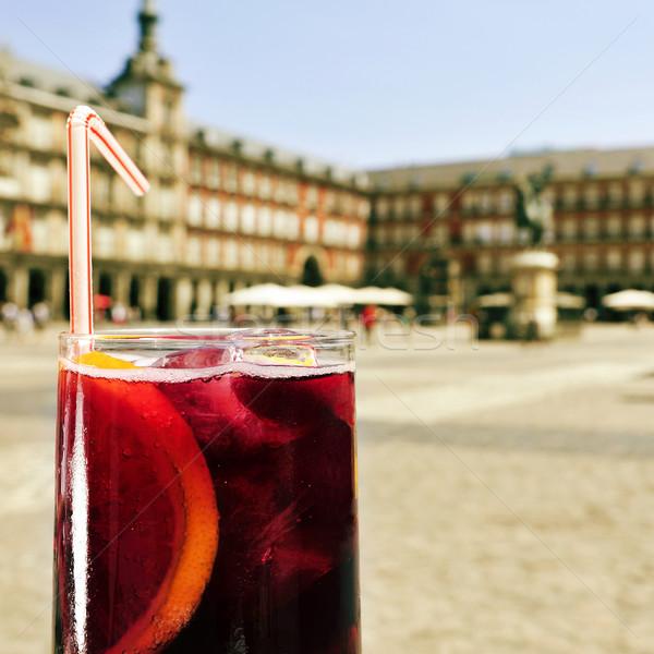 Madryt Hiszpania szkła popularny lata Zdjęcia stock © nito