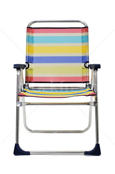 şezlong beyaz farklı renkler plaj Stok fotoğraf © nito