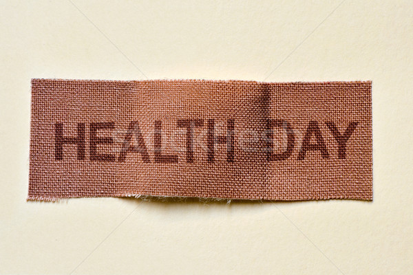 adhesive bandage with the text health day Stock photo © nito