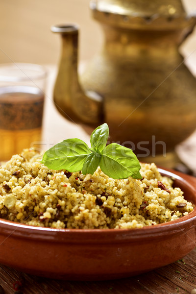 couscous with vegetables and tea Stock photo © nito