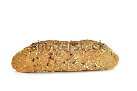 Stock photo: wholemeal bread roll topped with different seeds