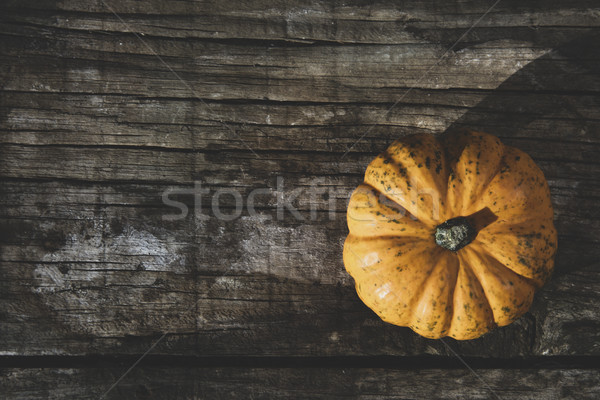 pumkin on a rustic wooden table Stock photo © nito