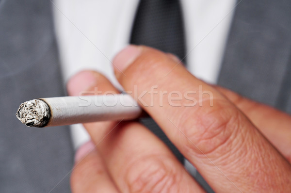 man in suit smoking Stock photo © nito