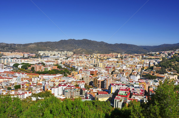 aerial view of Malaga city, in Spain Stock photo © nito