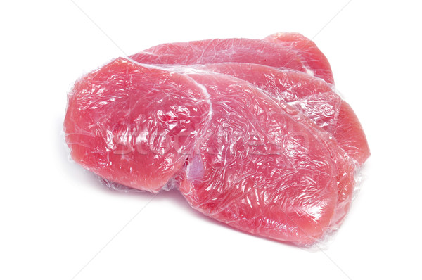 raw turkey meat wrapped in plastic wrap Stock photo © nito