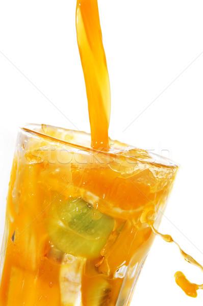 Meyve suyu cam beyaz gıda meyve Stok fotoğraf © nito